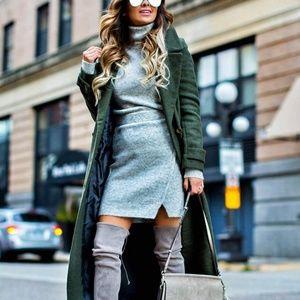 ASOS Gray Sweater Dress 0 / XS